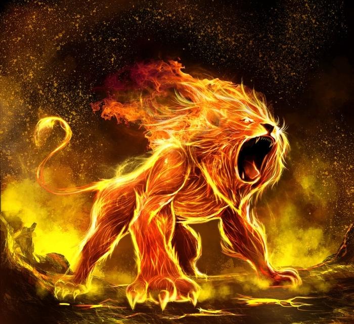 елемент огън лъв 1