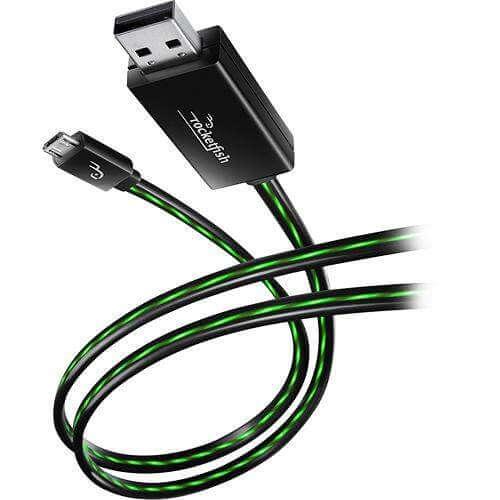 USB зарядно със светещ кабел